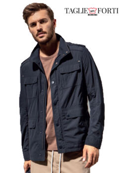 Jupiter. Jacket men's plus size article 48080 blue